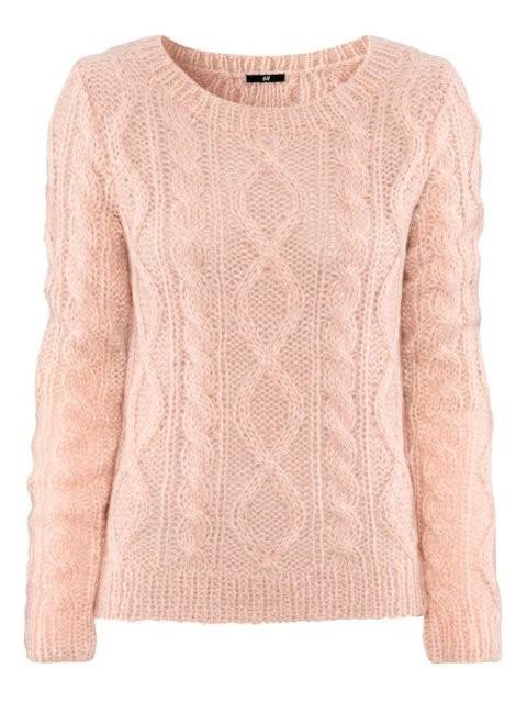 Swetry sweter warkocz H&M