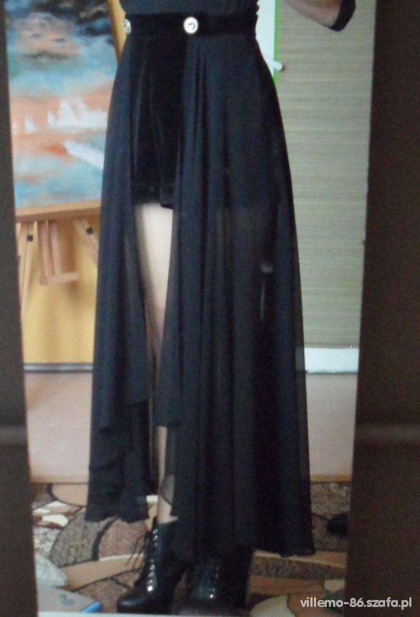 Spódnice asymetryczna maxi spodenki