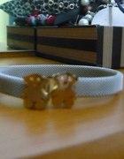 bransoletka TOUS ze złotymi misiami