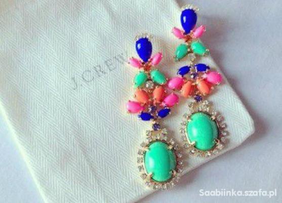 Biżuteria kolorowe kolczyki
