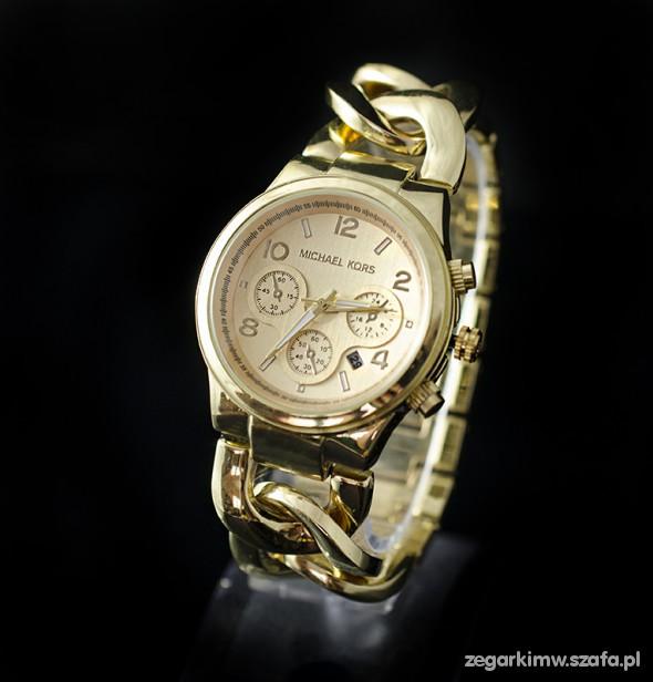zegarek MICHAEL KORS MK datownik GOLD nowy