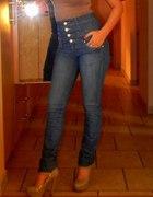 modne spodnie z wysokim stanem 36