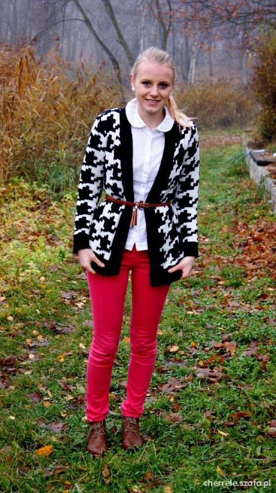 Blogerek Sweter w pepitkę
