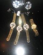 Damski złoty zegarek bransoleta HIT bloger