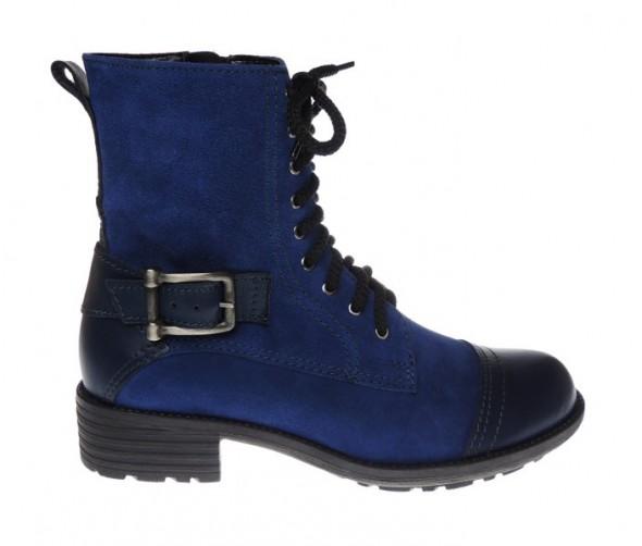 Granatowe workery buty zima 2012 heels shop r 39