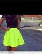 spódniczka limonkowa neonowa