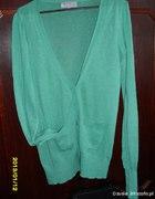 Zielony Sweterek Guziki w Serduszka