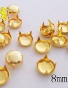 złote ćwieki pukle okrągłe srednica 8mm