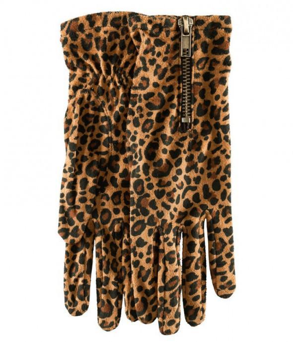 H&M rękawiczki panterka