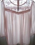 Szyfonowa bluzka pudrowy róż H&M 34...