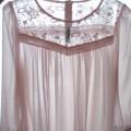 Szyfonowa bluzka pudrowy róż H&M 34