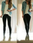 koszula legginsy szpilki