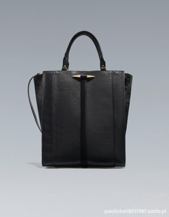 ZARA shopper bag torebka torba prezencik