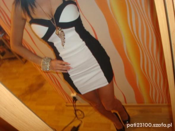 Imprezowe czarno biała