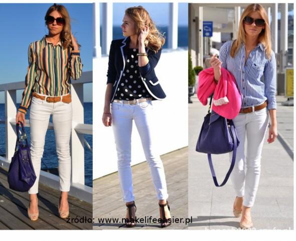 Rurki białe spodnie