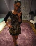 baskinka sukienka panterka 34 36 38 xs s m