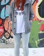 neige tee and grey sweatshirt...