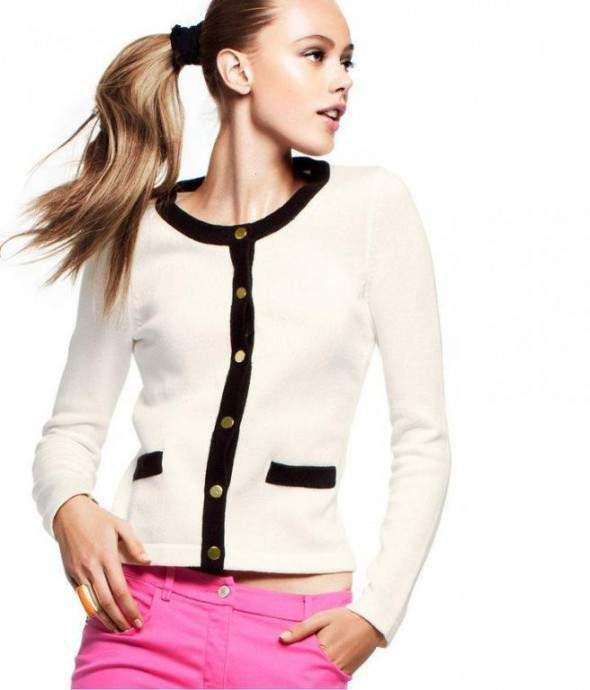 Sweter Biały HM