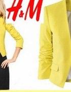 H&M MARYNARKA ŻAKIET ŻÓŁTY 34 XS