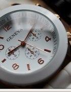 Zegarek GENEVA jelly watch złoty WYPRZEDAŻ