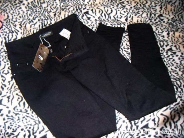 Spodnie Treginsy Czarne kieszenie zamek S M