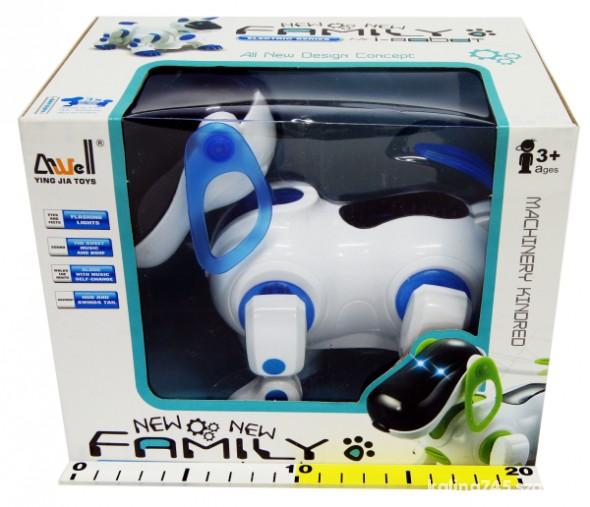 Zabawki PIES CHODZĄCY NA BATERIE FAMILY I ROBOT