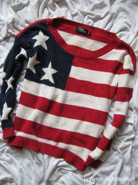 1465ff0913f9d flaga usa oversize sweter w Swetry - Szafa.pl