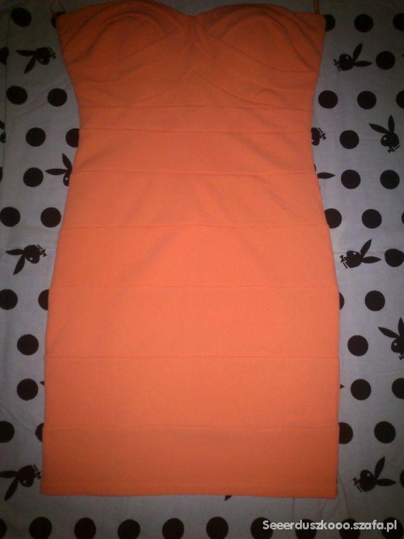Bandażowa neonowa sukienka Tally Weijl