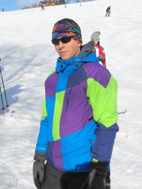 Sportowe Mój snowboardzista na stoku
