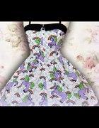 Sukienka Hell Bunny w jednorożce