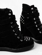 black sneakers...