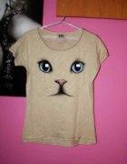 Bluzeczka z kotem BERSHKA