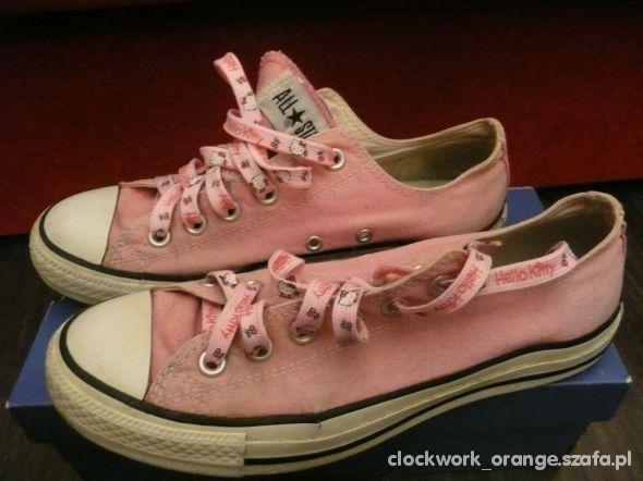 Converse różowe trampki hello kitty...