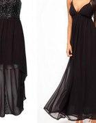 czarna dluga sukienka