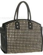 ćwieki złote glam rock goth torba duża torebka