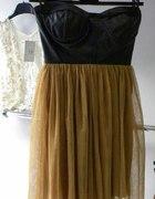 sukienka skora tiul studniówka sprzedam
