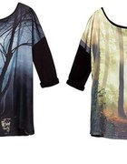 bluzka reserved z motywem lasu