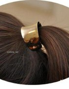Gumka do włosów metalowa hair cuff złota