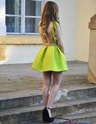 Sukienka bez pleców ASOS Limonka