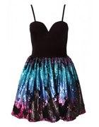 Ombre Sequin Skirt Dress...