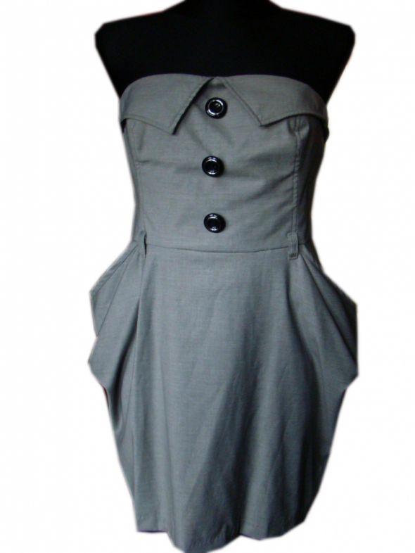 Suknie i sukienki sukienka szary tulipan M L