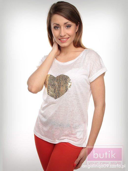 Ubrania butik bluzka serce
