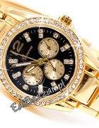 Złoty srebrny Zegarek GENEVA Swarovski Bloger Dams