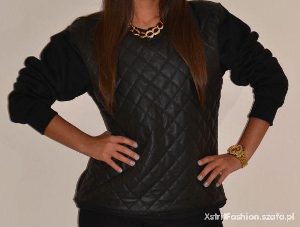 Bluza chanelka skórzana pikówka hit blogerek