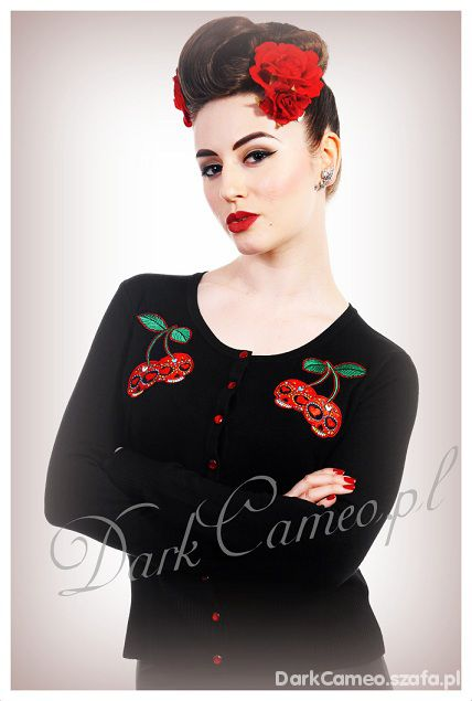 Kardigan WISIENKI Pin up Retro Rockabilly