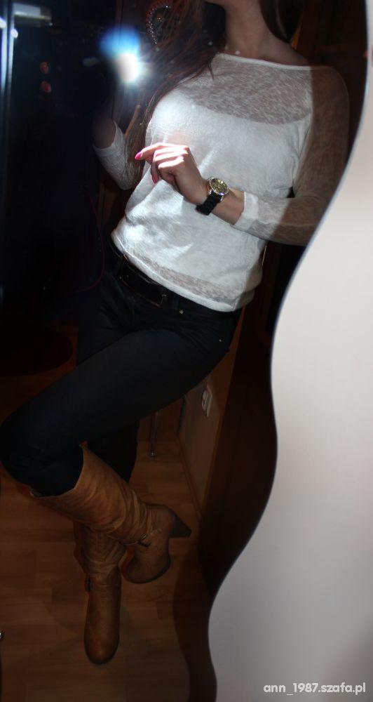 Mój styl Brąz czarne białe