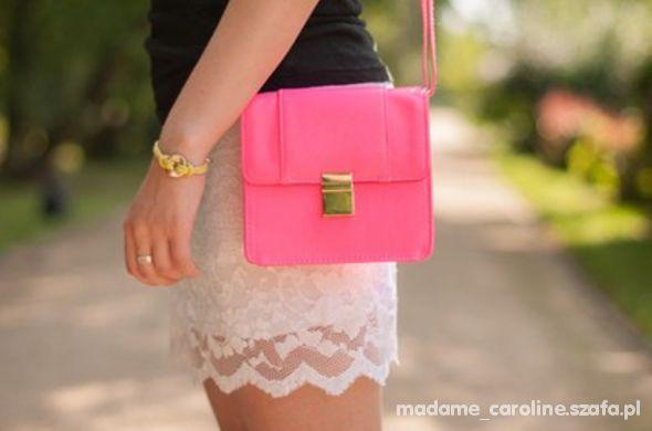 H&M torebka neonowy róż neon