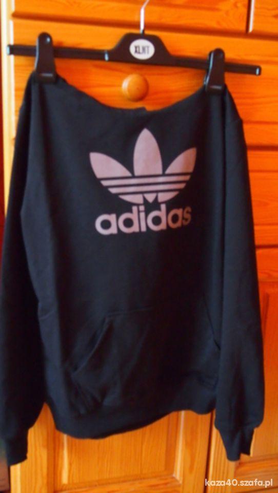 czarna bawełniana kangurka adidas w Bluzy Szafa.pl