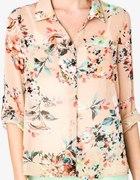 koszula floral brzoskwioniowa