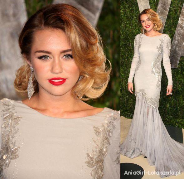 Wieczorowe Miley Cyrus na Grammy